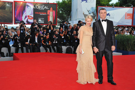 Naomi Watts and Liev Schreiber arrived in Venice, Italy, for the premiere of The Reluctant Fundamentalist.