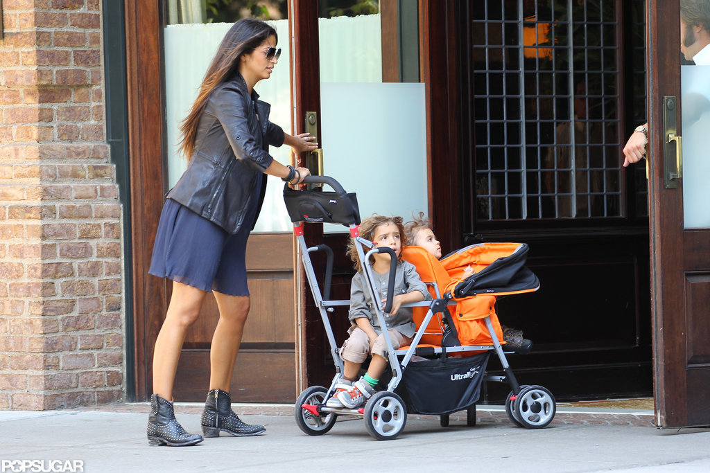 Camila Alves returned to her NYC hotel with Levi and Vida.