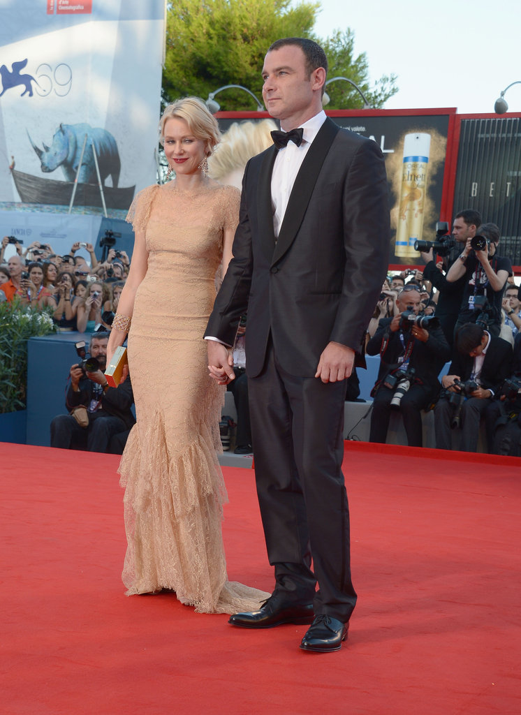 Naomi Watts and Liev Schreiber held hands.