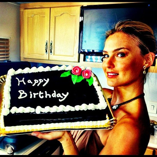 Bar Refaeli celebrated her June birthday with a chocolate treat.  Source: Instagram user barrefaeli