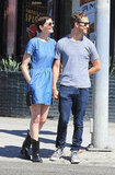 Anne Hathaway held hands with Adam Shulman while out in LA.