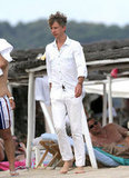 Jefferson Hack wore an all-white ensemble in Saint-Tropez.