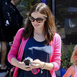 Jennifer Garner flashed a smile in LA.