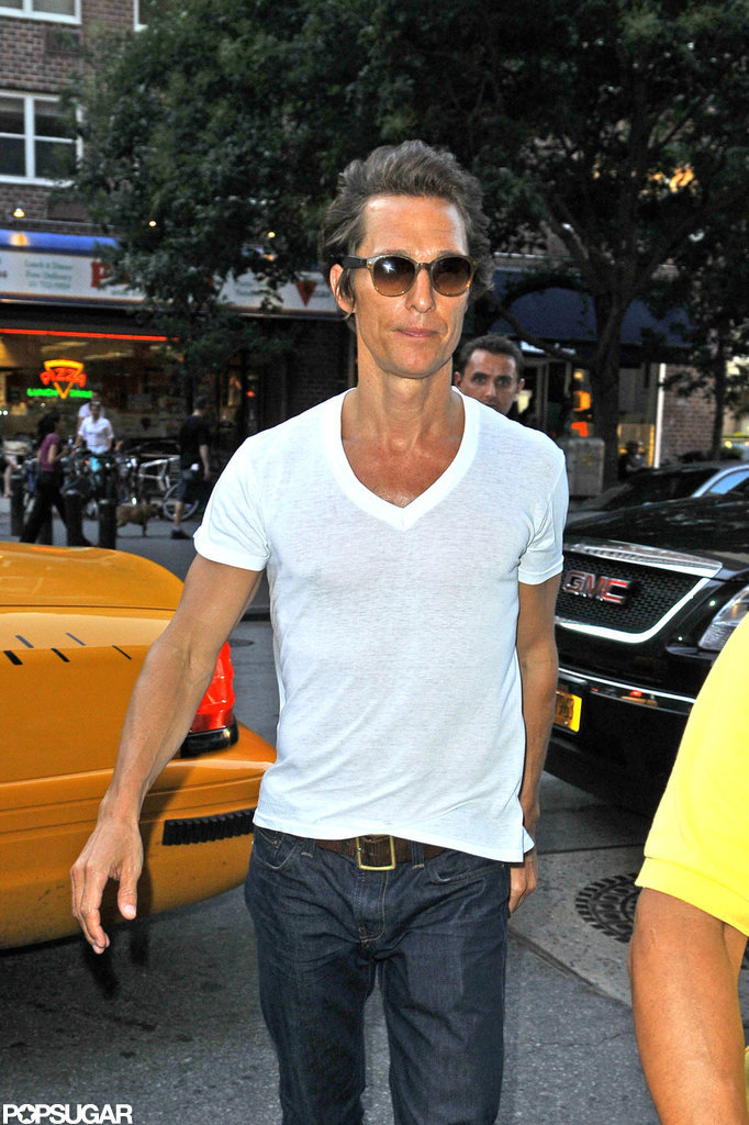 Matthew McConaughey showed off his noticeably thin frame in NYC.
