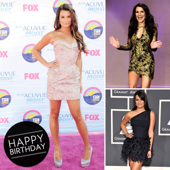 Lea Michele Wearing Minidress Pictures