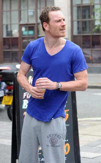 Michael Fassbender wore a t-shirt.