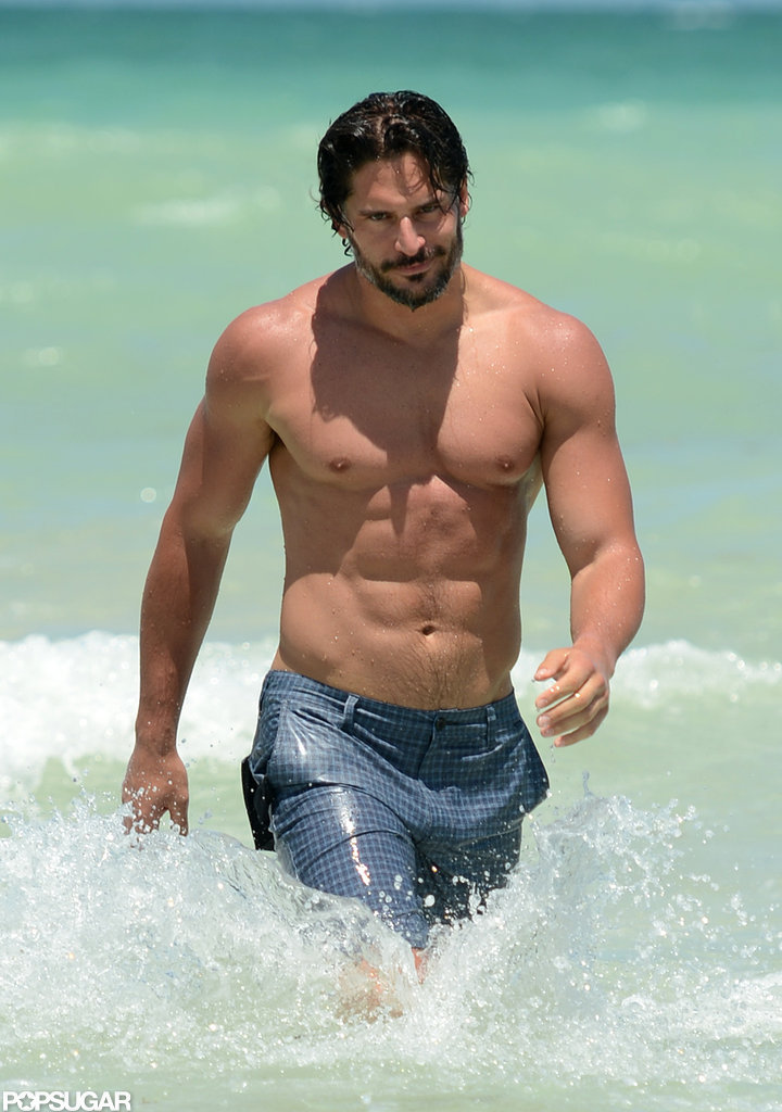 Joe Manganiello hit the waves in South Beach, Miami in June.