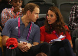 Kate Middleton chatted with her husband Prince William.