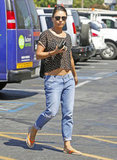 Mila Kunis made her way to a nail salon in LA.