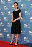 Winona Ryder donned a black dress and pumps at the Venice Film Festival.