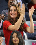 Kate Middleton cheered on Team GB.