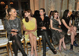 Molly Sims, Michelle Monaghan, Camilla Belle, Emma Roberts and Mandy Moore dressed up for the Marchesa September 2011 show in NYC.