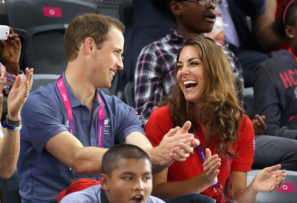 Prince William and Kate Middleton laughed together.