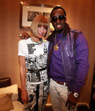 Anna Wintour smiled and posed with Diddy in 2010.