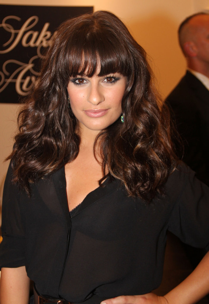 Lea Michele posed for cameras at Saks Fifth Avenue in 2011.