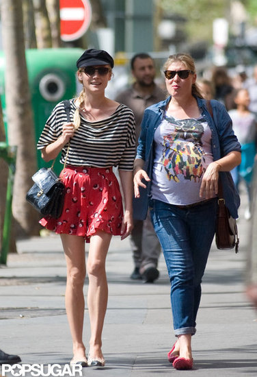 Diane Kruger took to the streets of Paris with a friend.