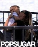 Gisele Bundchen gave Benjamin Brady kisses on a park bench.