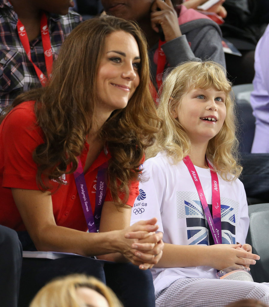 Kate Middleton watched cycling with Louise Windsor.