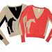 We'd pair this v-neck sweater under a sharp blazer and a fit and flare wool skirt.