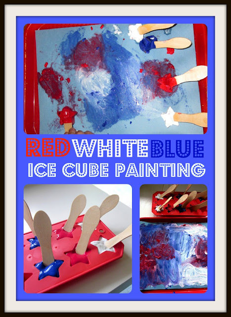 Patriotic Ice Cube Painting