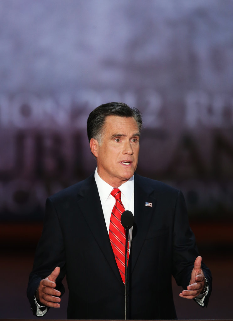 Mitt Romney Talks Church, Jobs, and the Women in His Family in RNC Speech