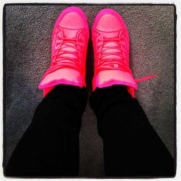 PopSugar editor Jess purchased some super cool (and bright!) neon sneakers from ASOS.