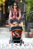 Camila Alves pushed Levi and Vida for a stroll in NYC.