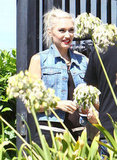 Gwen Stefani rocked a denim vest.