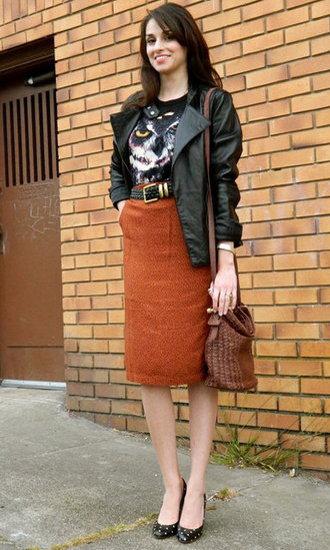 Edgy Office Street Style Popsugar Fashion