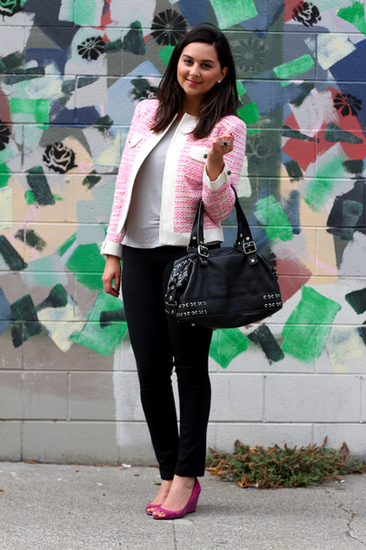 Congrats, TheStylishType! You made sweet pink look edgy and modern.