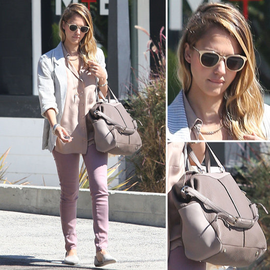 We're obsessed with Jessica Alba's monochrome-cool look. Channel the same easy hues.