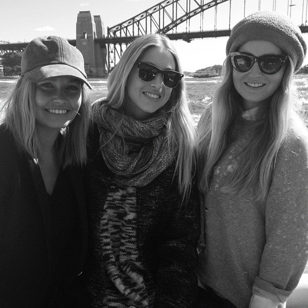 Lara Bingle acted as a local tour guide for Whitney Port and her sister, Paige. Source: Instagram user mslbingle