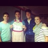 MasterChef contestants Beau Cook, Andy Allen, Ben Milbourne and Kylie Millar had a reunion. Source: Instagram user ben_milbourne
