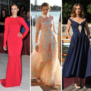 A Week in Chic: Kasia Smutniak in Valentino, Armani Prive, Jil Sander & More At Venice Film Festival 2012