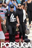 Jennifer Lopez and Casper Smart left their Miami Beach hotel hand in hand.