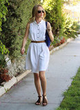 Kate Bosworth looked picture perfect in a white dress.