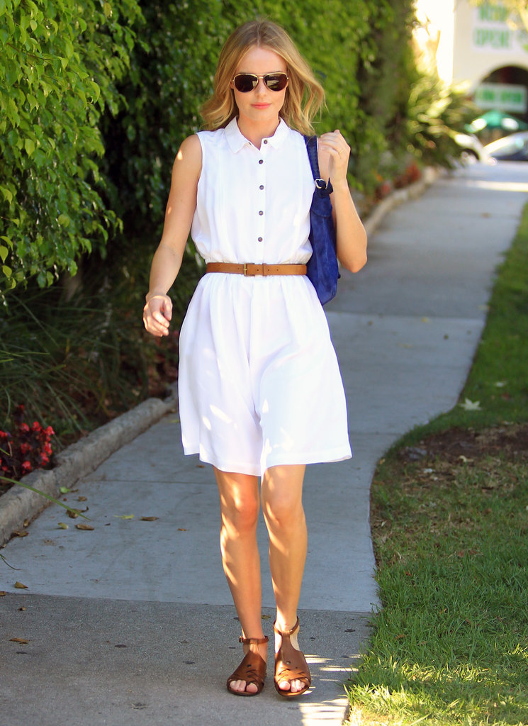 Kate Bosworth took to the side walk in West Hollywood.