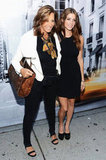 Ashley Greene and Donna Karan smiled at the DKNY Women's show.