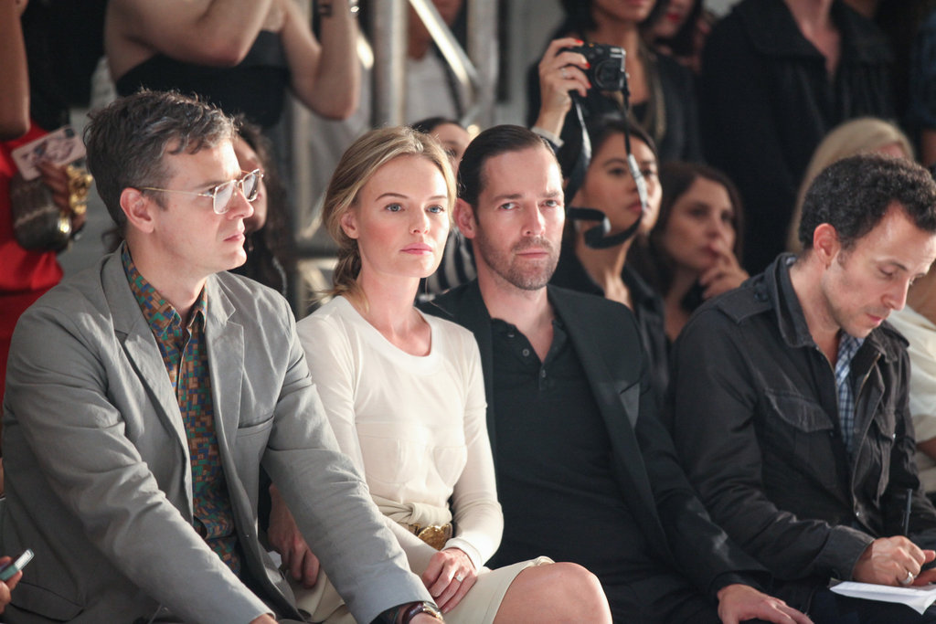 Kate Bosworth and Michael Polish sat side by side at the Altuzarra show.