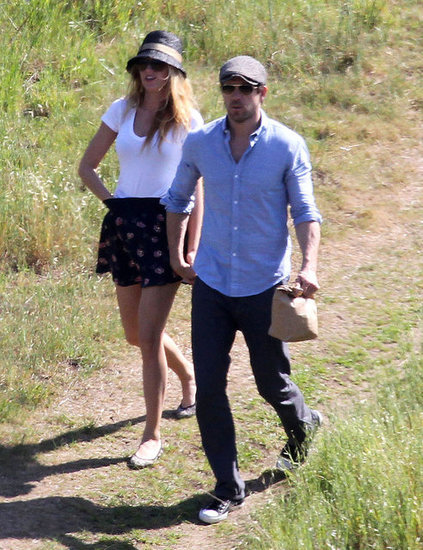 Blake Lively and Ryan Reynolds were hand in hand for a walk in LA in March 2012.