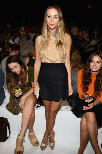 Harley Viera-Newton adhered to her signature M.O. of downtown-cool front row at Lacoste.