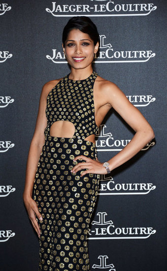 Freida Pinto stepped out for the Jaeger-LeCoultre party in Venice.