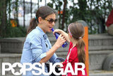 Katie Holmes Wraps Up the Long Weekend at a Park With Suri