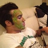 Pete Wentz indulged himself with an avocado mask. Source: Instagram user petewentz