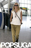 Gwyneth Paltrow was at Heathrow.