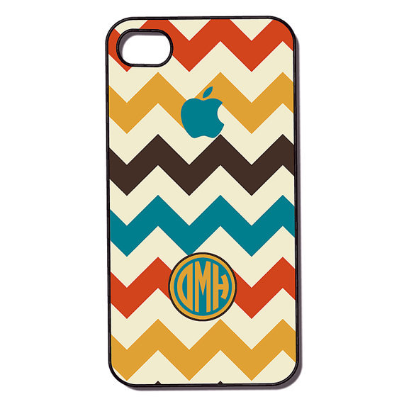 Monogram Chevron Pattern iPhone Case ($17)