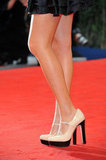 To offset the LBD, she wore two-toned pumps.