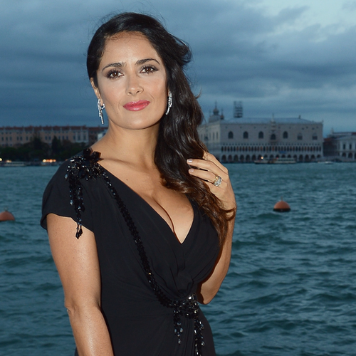 Salma Hayek in Gucci at Venice Film Festival 2012 (Video)