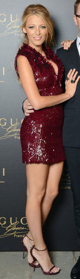 Blake's Gucci number hugged her curves and showcased her famous stems.
