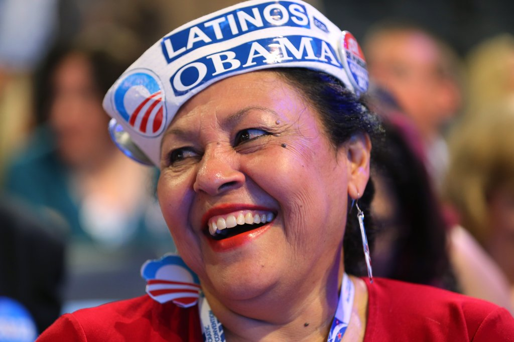 This Obama supporter was all smiles.